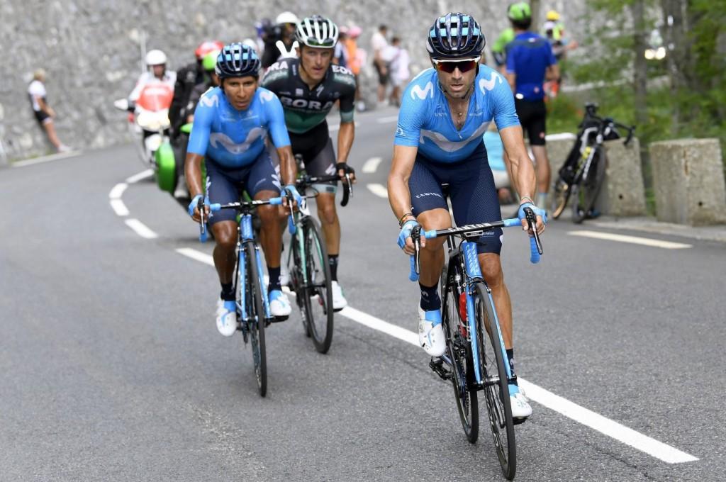 Nairo Quintana och Alejandro Valverde